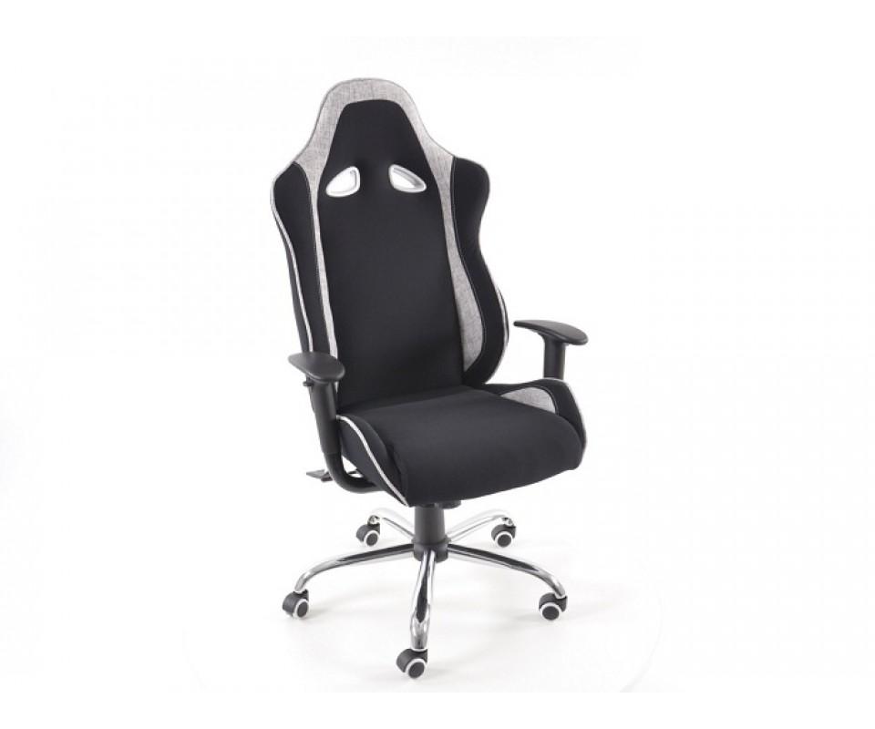 Chaise de bureau f1 sport couleur noir et gris - Chaise de bureau noir ...