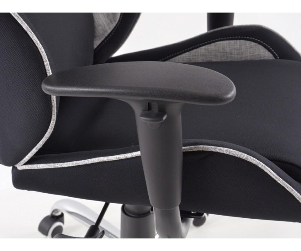 Chaise de bureau f sport couleur noir et gris