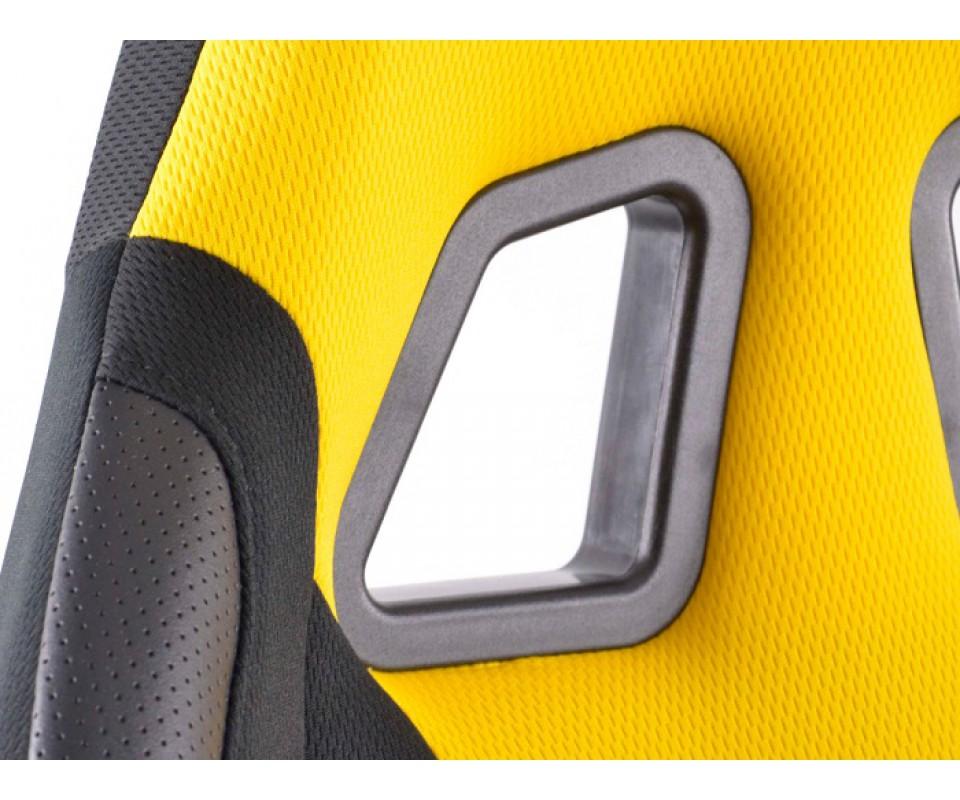 Chaise de bureau racecar sport couleur noir et jaune